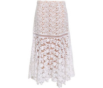 Cotton Guipure Lace Midi Skirt White Size 0