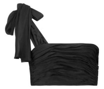 Amora cropped ruched satin top