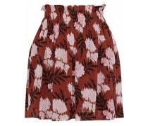 Monette gathered polka-dot chiffon mini skirt