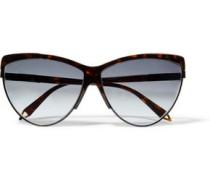Cat-eye Tortoiseshell Acetate Sunglasses Dark Brown Size --
