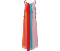 Anais Color-block Crepon Maxi Dress Multicolor