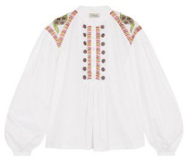 Fable embroidered silk blouse