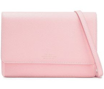 Panama Textured-leather Shoulder Bag Baby Pink Size --