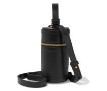 Canister Leather Shoulder Bag Black Size --