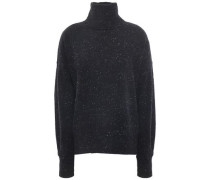 Donegal Cashmere Turtleneck Sweater Charcoal