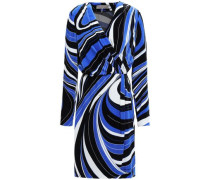 Velvet Wrap Dress Royal Blue