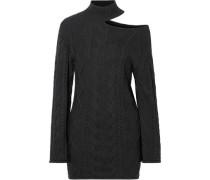 Corin Cutout Ribbed Cotton Mini Dress Black