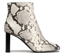 Moulin Snake-effect Leather Ankle Boots Animal Print