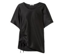 Ruched Satin T-shirt Black