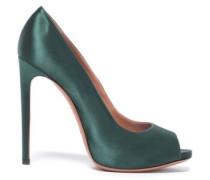 Satin Pumps Teal