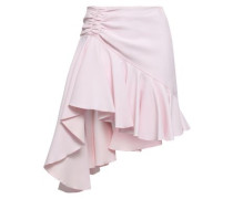 Draped Ruched Crepe Mini Skirt Pastel Pink