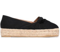 Knotted Canvas Espadrilles Black