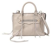Woman Studded Leather Shoulder Bag Taupe