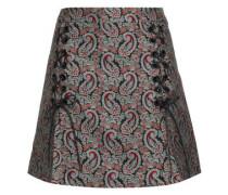 Cotton-blend Jacquard Mini Skirt Multicolor