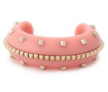 Woman Gold-tone Acetate Cuff Pink