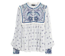 Embellished embroidered georgette blouse