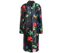 Floral-print Satin-twill Jacket Midnight Blue