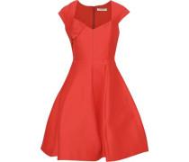 Cotton And Silk-blend Mini Dress Tomato Red Size 14