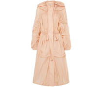 Oversized Hooded Shell Jacket Peach
