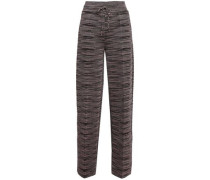 Knitted Straight-leg Pants Baby Pink