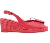 Dalia satin-crepe espadrille wedge sandals