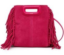 Fringed Suede Shoulder Bag Fuchsia Size --
