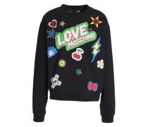 Appliquéd printed French cotton-blend terry sweatshirt