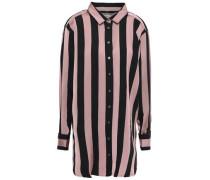 Embellished Striped Twill Shirt Antique Rose