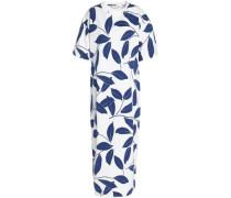 Printed cotton-jersey midi dress