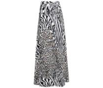 Printed Jersey Maxi Skirt Animal Print