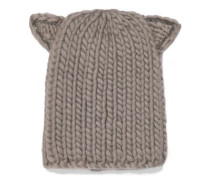 Felix crystal-trimmed cable-knit wool beanie