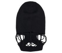 Cutout Wool Beanie Black Size ONESIZE