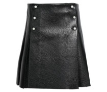 Pleated Faux Pearl-embellished Faux Pearl Mini Skirt Black