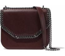 Falabella Box chain-trimmed faux leather shoulder bag
