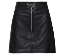Woman Alexander Leather Mini Skirt Black