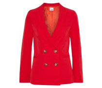 Woman Jojo Double-breasted Crepe Blazer Red