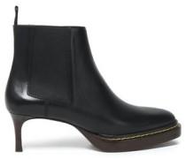 Florence Leather Platform Ankle Boots Black