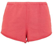 French Cotton-terry Shorts Coral