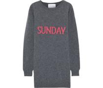 Intarsia Wool And Cashmere-blend Mini Dress Gray