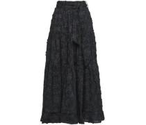 Tiered tton Fil upé Maxi Skirt Black