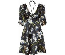 Anders ruched floral-print silk-satin mini dress