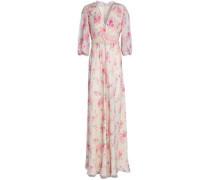 Cutout silk-georgette maxi dress