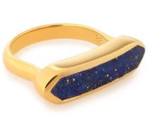 Baja 18-karat gold vermeil lapis lazuli ring