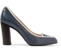 Two-tone Glossed-leather Pumps Blue