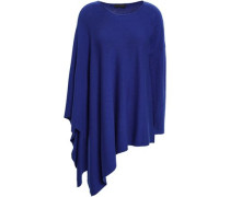Draped Knitted Sweater Royal Blue
