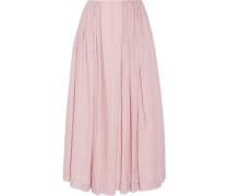 Poppy cloqué midi skirt