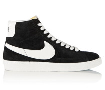 Blazer Perforated Suede High-top Sneakers Schwarz