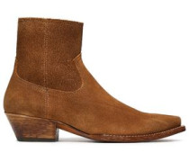Suede Ankle Boots Light Brown