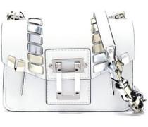 Whipstitch-trimmed leather shoulder bag