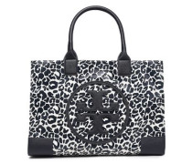 Woman Faux Leather-trimmed Leopard-print Twill Tote Animal Print